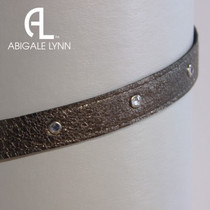Abigale Lynn Visor Band - Grey Black Crocodile