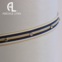 Abigale Lynn Visor Band - Navy Nautical