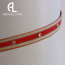 Abigale Lynn Visor Band - Red Nautical