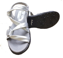 Sandbaggers: Women's Golf Sandals - Grace Silver