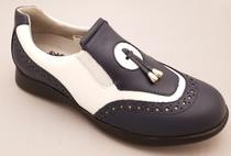 Sandbaggers: Women's Golf Shoes - Madison II Navy & White