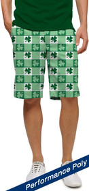 Loudmouth Golf: Men's StretchTech  Shorts - Corned Beef with Shamrocks