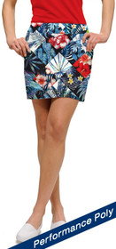 Loudmouth Golf: Women's StretchTech Skort - Midnight Lagoon