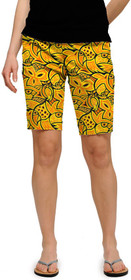 Loudmouth Golf Womens Bermuda Shorts: Chirp Chirp
