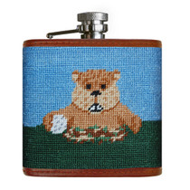 Smathers & Branson: Flask - Gopher Golf Needlepoint