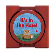 Gopher Golf Needlepoint Coaster Set by Smathers & Branson