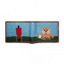 Smathers & Branson: Bi-Fold Wallet - Gopher Golf Needlepoint