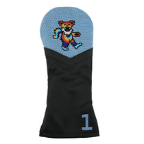 Smathers & Branson: Driver Headcover - Dancing Bear Tie Dye Needlepoint