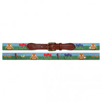 Smathers & Branson: Belt - Gopher Golf Needlepoint Belt