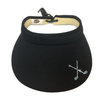 Titania Golf: Women's Small Bill Visor with Cord - Crossed Clubs