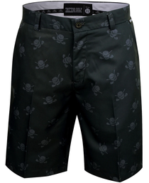 Tattoo Golf: Men's Lucky 13 ProCool Golf Shorts - Black/Charcoal