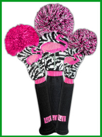 Just 4 Golf: Loudmouth Headcover Set - Savage Flamingos