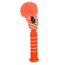 Just 4 Golf: Fairway Headcover - Diagonal Stripe - Orange and White