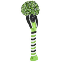 Just 4 Golf: Hybrid Headcover - Vertical Stripe - Lime Black and White