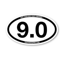 Foot Wedge Pro Car Decal 9 Hole