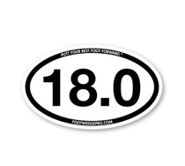 Foot Wedge Pro Car Decal 18 Hole