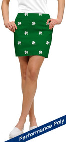 Loudmouth Golf Womens Skort - Shamrocks StretchTech