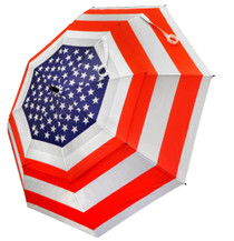 "USA Flag 62"" Double Canopy Golf Umbrella by Hotz Golf"