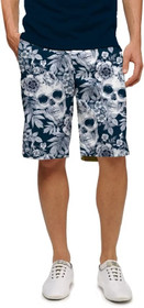 Loudmouth Golf: Men's StretchTech Shorts - Skull Garden