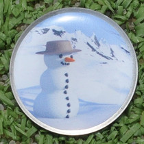 Divix Golf: Golf Ball Marker - Snowman - SALE