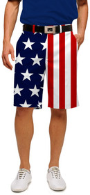 Loudmouth Golf: Men's StretchTech Shorts - Stars & Stripes*