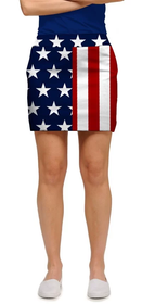 Loudmouth Golf: Women's StretchTech Skort - Stars & Stripes