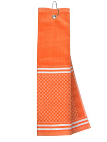 Just 4 Golf: Orange Towel with Ribbon