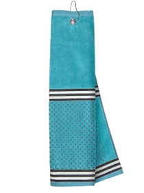 Just 4 Golf: Turquoise Towel with Ribbon