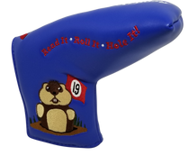 Dancing Gopher Blue Embroidered Putter Cover by ReadyGOLF - Blade