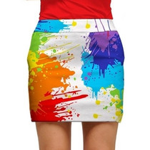 Loudmouth Golf: Womens StretchTech Skort - Drop Cloth