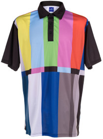 ReadyGOLF Mens Golf Polo Shirt - Test Pattern