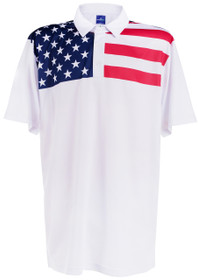 USA Living in America Mens Golf Polo Shirt by ReadyGOLF