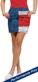 Loudmouth Golf: Women's StretchTech Skort - Declaration of Indepants