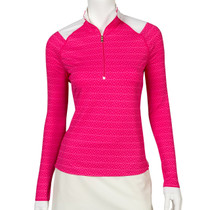 Fairway & Greene: Women's Shane Zip Mock Polo