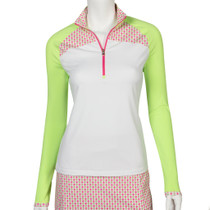 Fairway & Greene: Women's Jules Zip Mock Polo