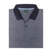 Fairway & Greene: Men's Flagler Stripe Lisle Polo