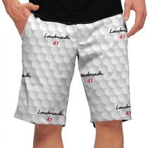 Loudmouth Golf: Men's StretchTech Shorts - Big Golf Ball