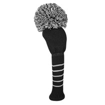 Just 4 Golf Headcovers: Driver - Solid - Black/White