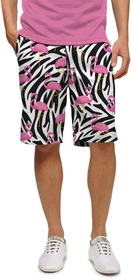 Loudmouth Golf: Men's StretchTech Shorts - Savage Flamingos*