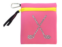 Titania Golf: Neon Carryall Bag - Crossed Clubs