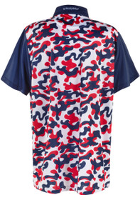 ReadyGOLF Mens Golf Polo Shirt - USA Red, White & Blue Camo