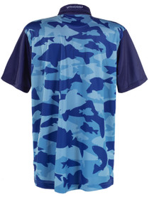 ReadyGOLF Mens Golf Polo Shirt - Fish Camo