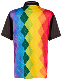 Rainbow Argyle Mens Golf Polo Shirt by ReadyGOLF