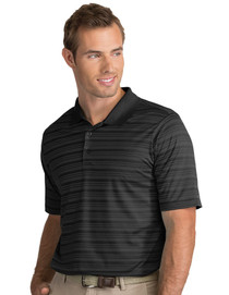 Antigua: Men's Performance Short Sleeve Polo - Liquid 104082 (Black/Carbon) XL