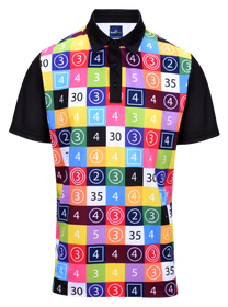 Scorecard Mens Golf Polo Shirt by ReadyGOLF
