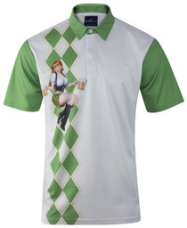 ReadyGolf: Mens Golf Polo Shirt - Beer Girl