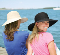 Wallaroo Hats: Womens Victoria Diva Sun Hat - Black