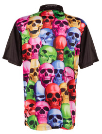 ReadyGolf: Mens Golf Polo Shirt - Pile of Skulls