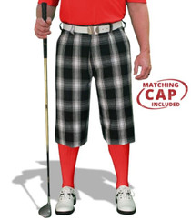 Golf Knickers: Men's 'Par 5' Limited Plaid Golf Knickers & Cap - Yorkshire