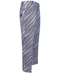 Tattoo Golf: Men's ProCool Houndstooth Golf Pants - Black/White/Purple
